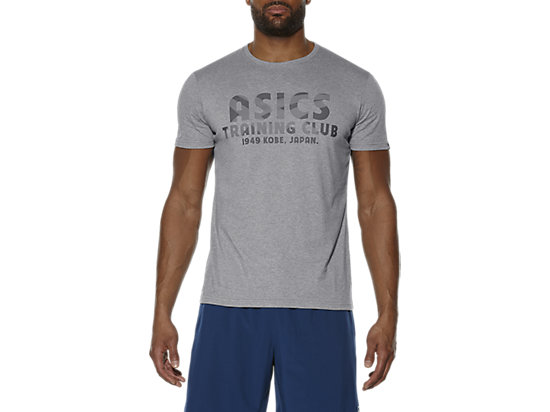 TRAINING CLUB SS TOP HEATHER GREY 3