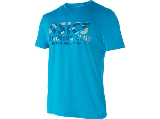 Training Club Sanded Short Sleeve Top Blue Jewel 3