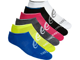 6PPK INVISIBLE SOCK, BLACK ASSORTED