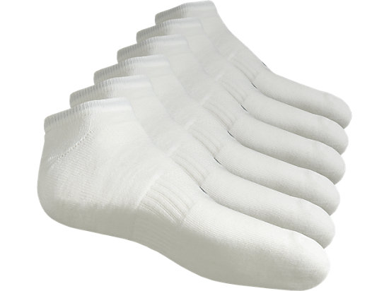 6PPK INVISIBLE SOCK REAL WHITE