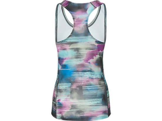 GRAPHIC FITTED TANK TOP ABSTRACT NUAGE 7 BK