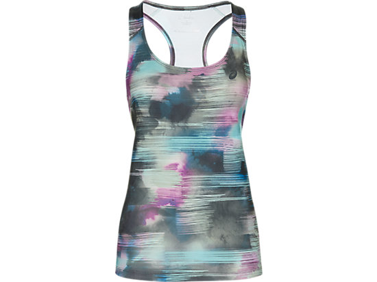 GRAPHIC FITTED TANK, Abstract Nuage