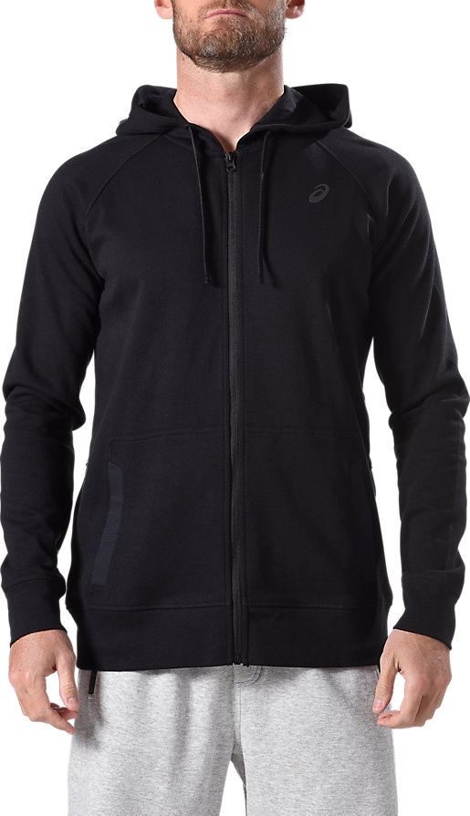 Fleece Full Zip Hoodie Performance Black 3 FT