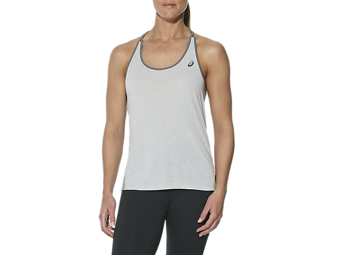 Front Top view of Layering Tanktop für Damen, MID GREY