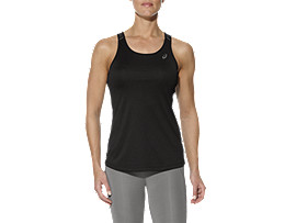 OPEN BACK TRAININGSTANKTOP FÜR DAMEN, Performance Black