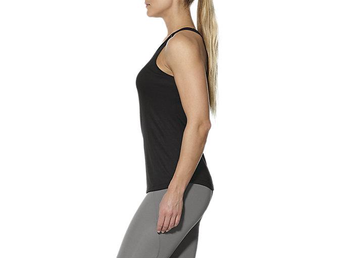 Alternative image view of Open Back Trainingstanktop für Damen, PERFORMANCE BLACK