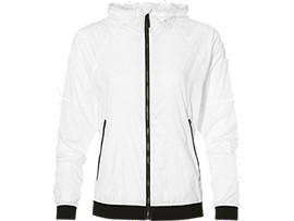 Front Top view of FUZEX TR LW JACKET, Real White