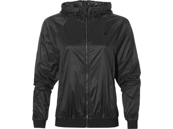 Front Top view of fuzeX TR LW JACKET, PERFORMANCE BLACK