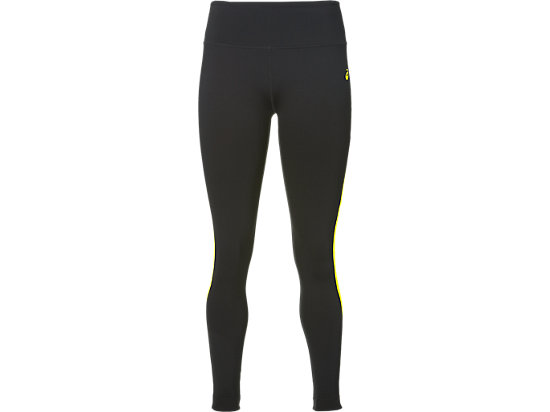Knöchellange Trainings-Tight für Damen, Performance Black / Blazing Yellow