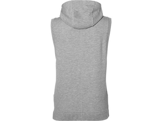 Trainings-Hoodie ohne Ärmel für Damen HEATHER GREY 7
