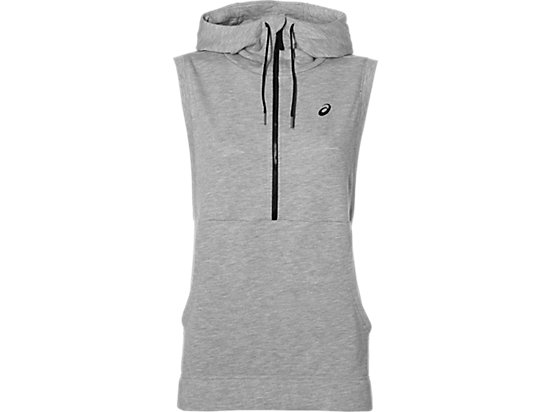 Trainings-Hoodie ohne Ärmel für Damen HEATHER GREY 3