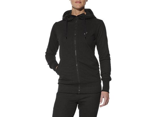 Trainings-Hoodie mit Reißverschluss für Damen, Performance Black