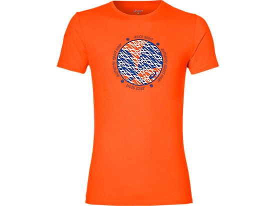 MAGLIA CON STAMPA GRAFICA DA PADEL DA UOMO, Shocking Orange
