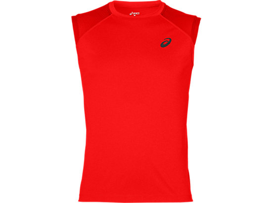 LITE-SHOW SLEEVELESS, Fiery Red