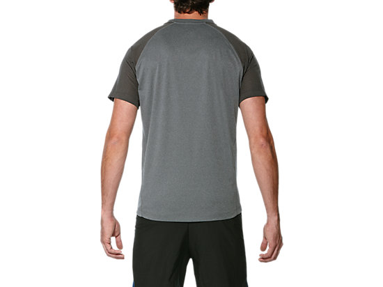 LITE-SHOW SS TOP DARK GREY HEATHER 7