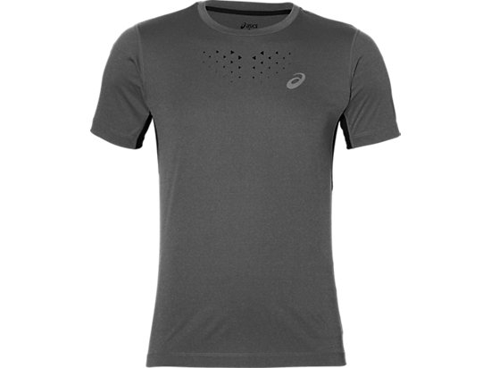 STRIDE SS TOP DARK GREY HEATHER 3 FT