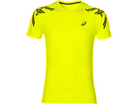 ASICS STRIPE SS TOP, Safety Yellow