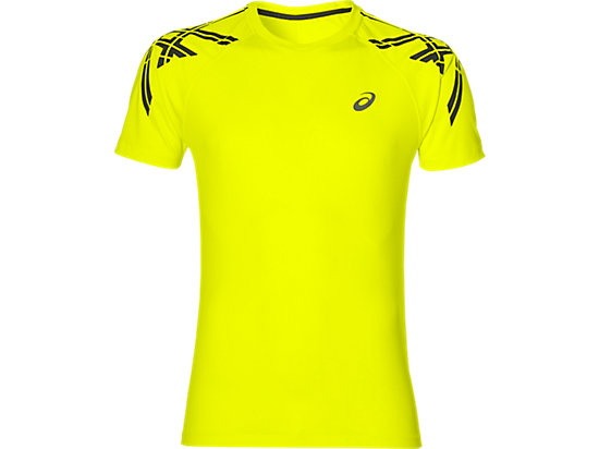 ASICS STRIPE SS TOP SAFETY YELLOW 3 FT