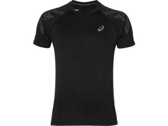 ASICS STRIPE SS TOP PERFORMANCE BLACK 3