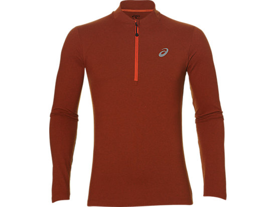 LS 1/2 ZIP JERSEY, Red Clay Heather