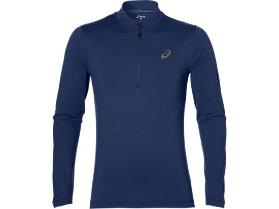 LS 1/2 ZIP JERSEY INDIGO BLUE HEATHER 3