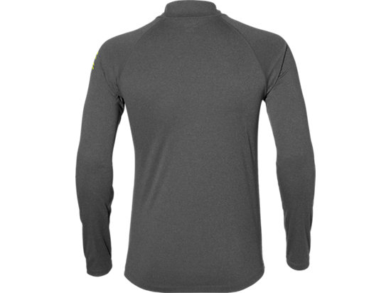 ASICS STRIPE 1/2 ZIP DARK GREY HEATHER 7