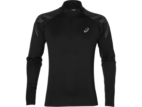 ASICS STRIPE 1/2 ZIP PERFORMANCE BLACK 3