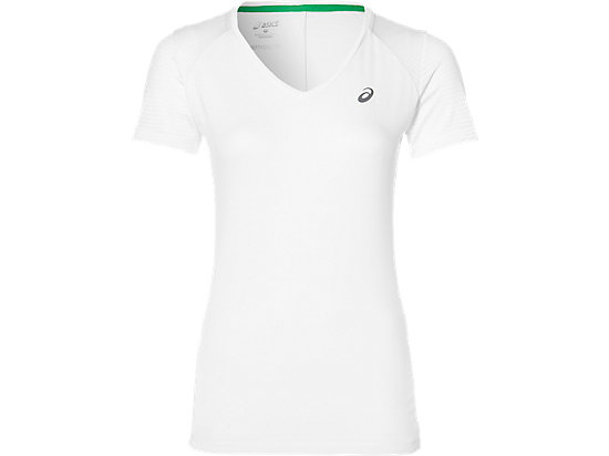 FUZEX V-NECK SS TOP, Real White
