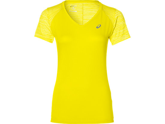 FUZEX V-NECK SS TOP, Blazing Yellow