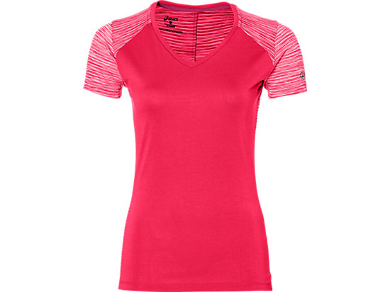 FUZEX V-NECK SS TOP, Cosmo Pink