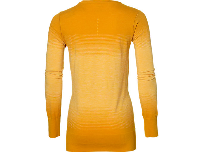 Back view of fuzeX SEAMLESS LS, GOLDEN AMBER