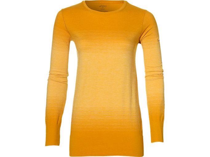 Front Top view of fuzeX SEAMLESS LS, GOLDEN AMBER