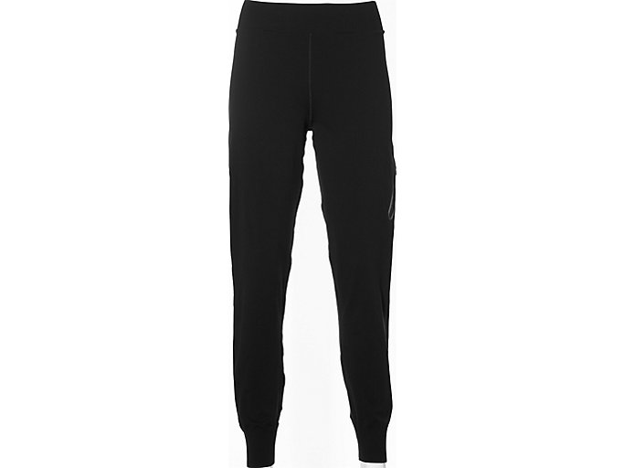 Front Top view of fuzeX KNIT PANT, PERFORMANCE BLACK