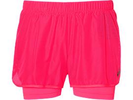 "Pantalón corto de running 2-en-1 para mujer 3,5"""