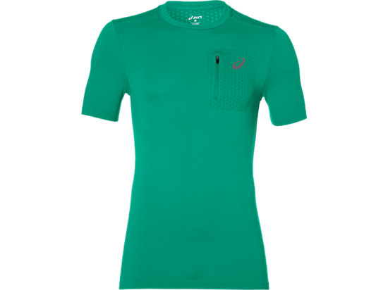 ELITE TOP MET KORTE MOUWEN, Jungle Green