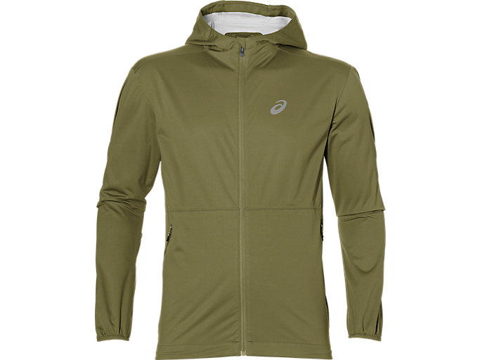 Front Top view of ACCELERATE JACKET, MARTINI OLIVE