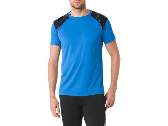 Camiseta de running fuzeX refrescante para hombre, DIRECTOIRE BLUE