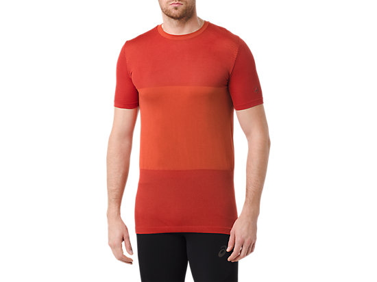 FUZEX SEAMLESS SHORT SLEEVE TOP, Red Clay