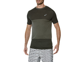 FUZEX SEAMLESS SHORT SLEEVE TOP, Dark Grey