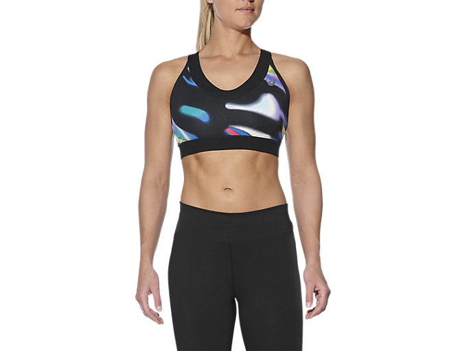 Front Top view of fuzeX BRA, SEA WAVE BLACK