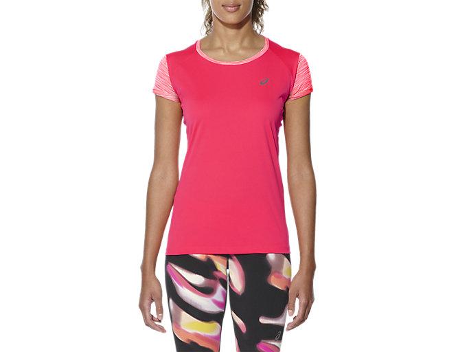asics FuzeX Short Sleeve Top Running Shirt Women diva pink