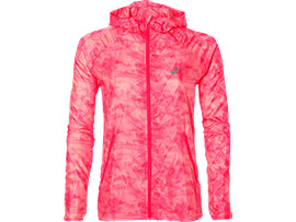 Front Top view of fuzeX PACKABLE JKT, WHISK DIVA PINK