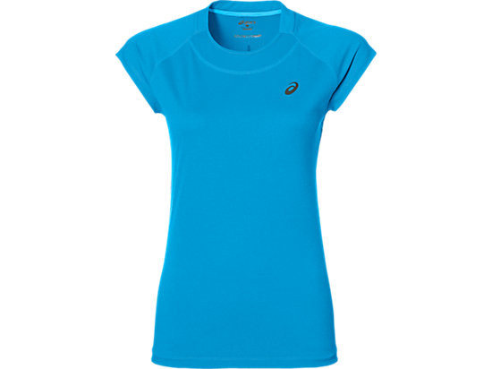 CAPSLEEVE TOP DIVA BLUE HEATHER 3
