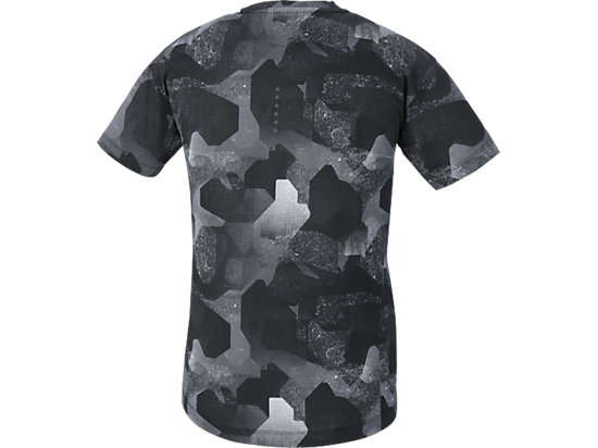 fuzeX PRINTED SS TOP CAMO GEO PERFORMANCE BLACK