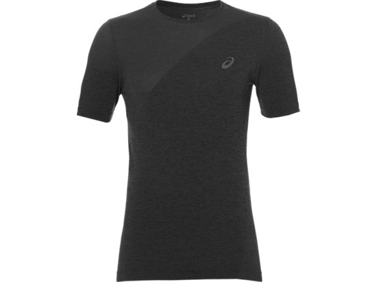 SEAMLESS TOP DARK GREY HEATHER 3 FT