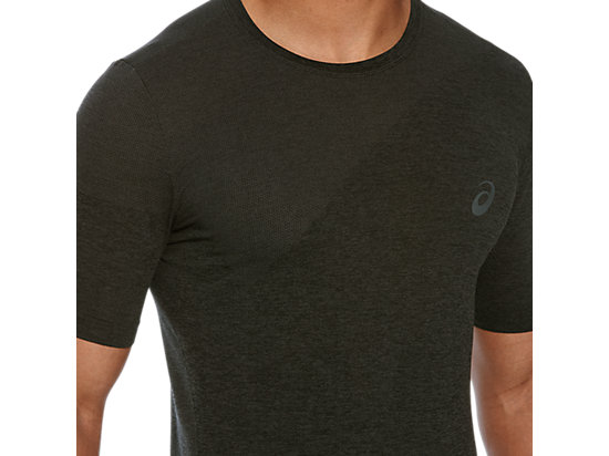 SEAMLESS TOP DARK GREY HEATHER 23 Z