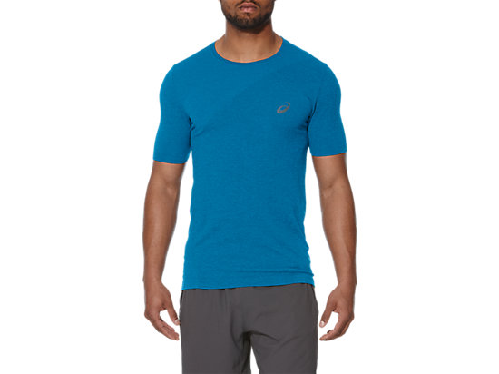 SEAMLESS TOP, Thunder Blue Heather