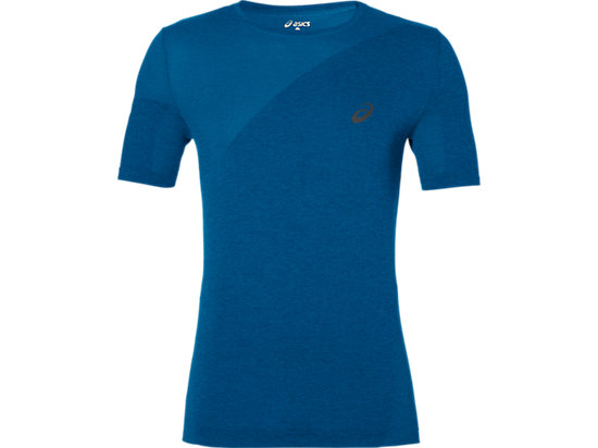 SEAMLESS TOP THUNDER BLUE HEATHER 3