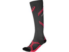Front Top view of LB COMPRESSION SOCK, DIVA PINK