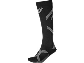 Front Top view of LB COMPRESSION SOCK, PERFORMANCE BLACK